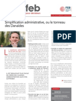Simplification administrative ou le tonneau des Danaïdes, Infor FEB 32, 18 octobre 2012