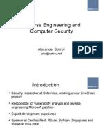 Reverse Enginnering Microsoft Binaries - Alexander Sotirov