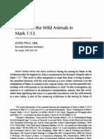 Jesus With Wild Animals in Mark 1