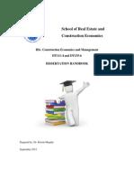 CEMD Thesis Handbook 2012-2013