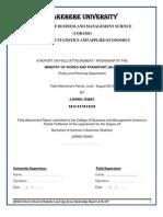 Internship Report at MoWT