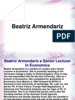 Beatriz Armendariz a Senior Lecturer in Economics