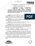 PNoy AO#31 Govt. Fees Hike