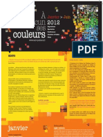Festival A chacun ses couleurs, janvier - juin 2012