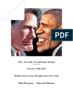 2012 (Second) Presidential Debate (Transcript)