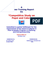72753908 MBA PROJECT Comparative Study of Pepsi and Coke
