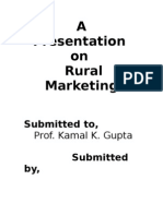Rural Marketing-write Up
