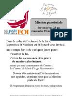 Affiche Mission Paroissiale 2012
