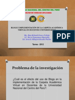 BLOGS Y CARPETA ACADÉMICA