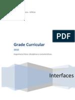 Grade Curricular Engenharia Física UFSCar-INTERFACES