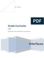 Grade Curricular Engenharia Física UFSCar-INTERFACES