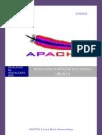 Instalacion de Apache en Ubuntu JoseMariaMorenoMoya