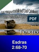 La Responsabilidad Del Cristiano en Relacion Con Las Ofrendas