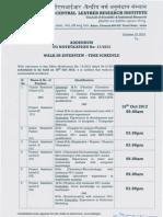 NNotification CLRI Chennai JRF PS Posts