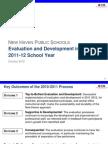 NEW HAVEN PUBLIC SCHOOLS Teacher Evaluation and Development in NHPS, 2011-12 School Year