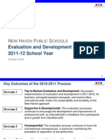 NEW HAVEN PUBLIC SCHOOLS Teacher Evaluation and Development in NHPS, 2011-12 School Year