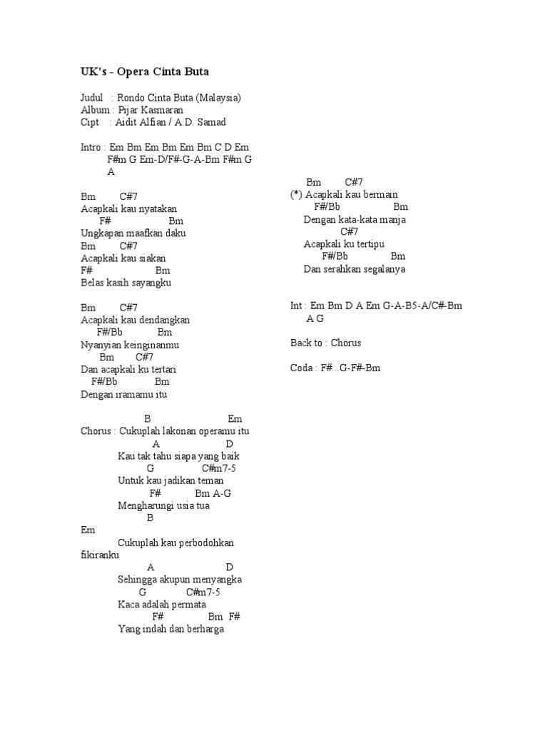 Chord Lagu Romantis Malaysia