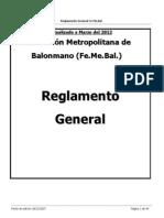 Reglamento Gral 2012handball