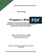 Progreso y Miseria - Henry George