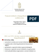 VM - Nemzeti értékek és hungarikumok törvényi szabályozása