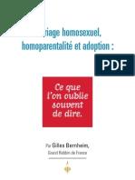 Mariage homosexuel, homoparentalité et adoption