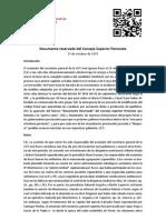 Documento Reservado del comando superior peronista