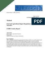 Food and Agricultural Import Regulations and Standards - Narrative_Bangkok_Thailand_8!14!2009