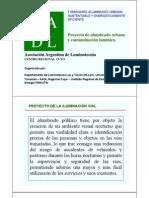 Proyecto de alumbrado y contaminación lumínica