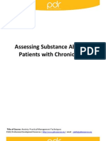Assessing Substance Abuse in Patients With Chronic Pain
