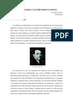 Schmitt, Sampay y El Populismo Nacional.