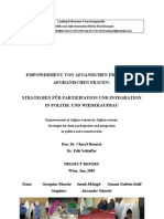 Afghan Women Empowerment Project Report 2005