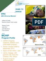 Progress on National Programs to Reduce PPH