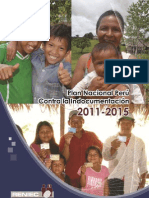 Plan Nacional Perú contra la Indocumentación 2011-2015. Objetivos y metas.