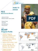 National Programs to Prevent and Manage PE/E, JSmith, FIGO2012