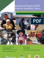 Análisis de la impelentación del progrma juntos en las regiones de Apurímac, Huancavelica y Huánuco