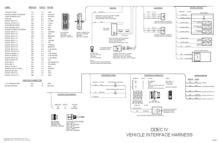 Ddec IV Oem Wiring Diagram   Conector eléctrico   Vehículos Ddec Vi Wiring Diagram Computer Pins on