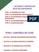 Acteurs Et Operateurs Du Marche Des Assurances. Sem 5 Fb