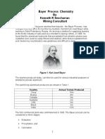 Bayer Process Chemistry