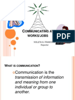Mam T-communicating at Work