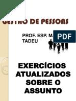 EXERCÍCIOS GESTÃO DE PESSOAS