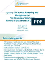 Quality of Care for Screening and Management of Pre-Eclampsia/Eclampsia, KAgarwal, FIGO2012