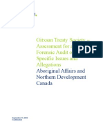 Deloitte and Touche Assessment - Gitxsan Treaty Society September 17, 2012