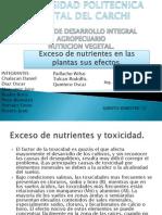 Exceso de Nutrientes en Las Plantas Sus Efectos