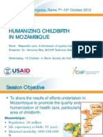 Humanizing Childbirth in Mozambique, VReis, FIGO2012