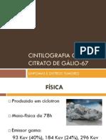 CINTILOGRAFIA COM CITRATO DE GÁLIO-67