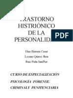 Trabajo de Trastorno Histrionico de La Personalidad Histrionico