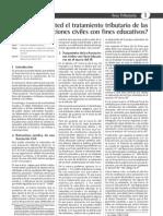 Tratamiehntotributario de Las Asociaciones Civiles Con Fines Educativos