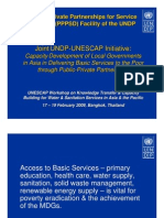 Joint UNDP-UNESCAP Initiative. Capacity Development of Local Governance in Asia in Developing Basic Services to the Poor through Public Private partnerships