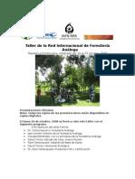 Memoria Del Taller Foresteria Analoga