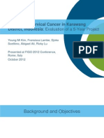 Preventing Cervical Cancer in Karawang District, Indonesia, YKim, FIGO2012